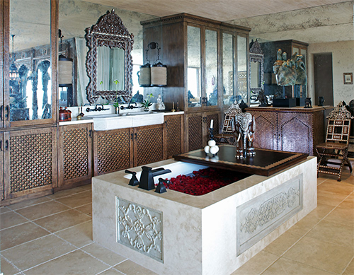 Cher's Indian and Moroccan Inspired Bathroom