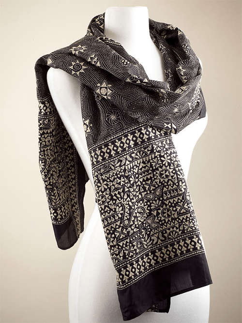 Warli-Scarf-at-International-Folk-Art-Market-Online