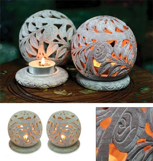 Soapstone Candleholder