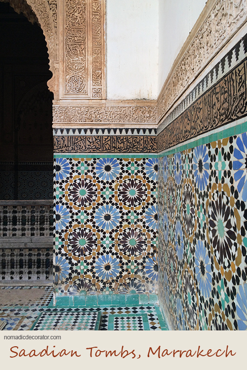 Patterns at Saadian Tombs in Marrakech