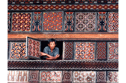 Toraja Patterned House via Indonesia Traveler