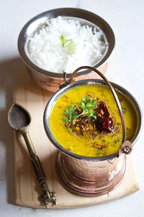 Dal tadka curry recipe via Veg Recipes of India