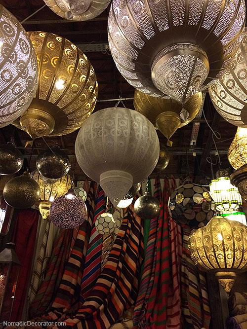 Moroccan Pierced Metal Lanterns