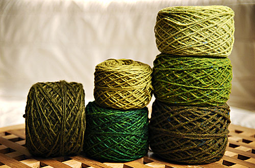 Olive Yarns via Brooklyn Tweed