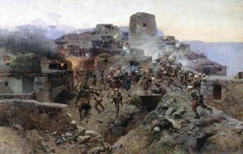 franz-roubaud-assault-on-gimry-dagestan-north-caucasus-wars