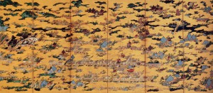 Eitoku Kanou / Folding Screens of Scenes In and Around Kyoto (right panel)