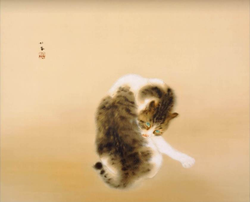 Tabby Cat / Seihou Takeuchi Painting of Kyoto School