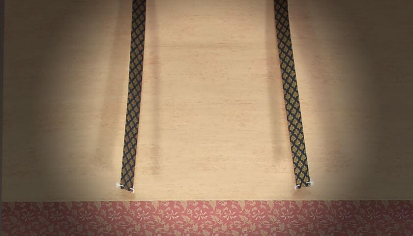 fuutai decorative fabric strip kakejiku hanging scroll