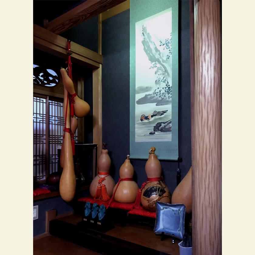 Mandarin Duck kakejiku oshidori