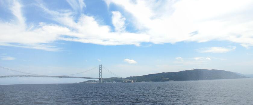 明石海峡大橋 淡路島