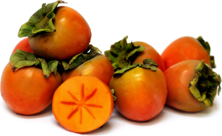 Persimmons come in many varieties, but the most comon sold on the global market are the: Fuyu (pictured above), Sheng, Hachiya, and Saijio.
