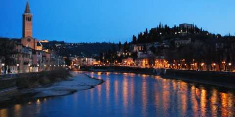 Vista sull'Adige da Ponte Novo