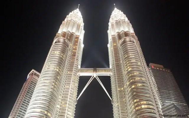 Petronas Tower a Kuala Lumpur. Malesia