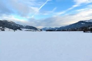 Solo neve attorno a Sankt Johann