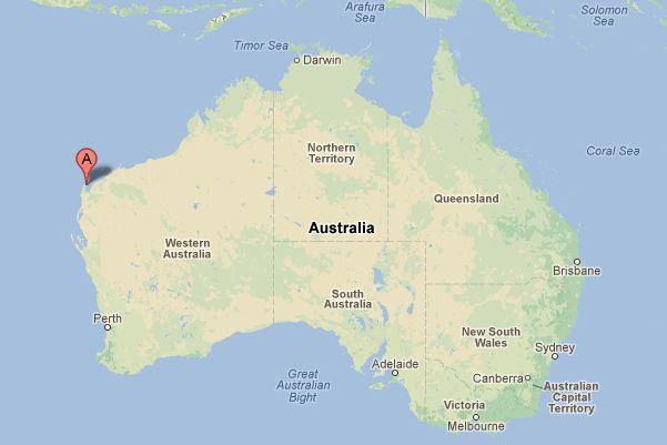 Carte Australie Exmouth