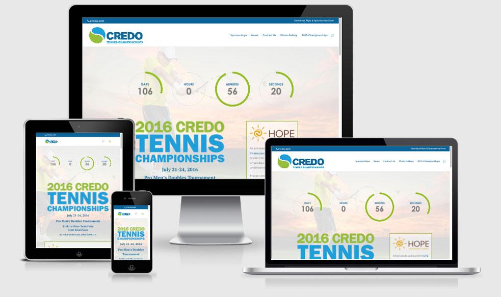 Tennis Tournament Website Design