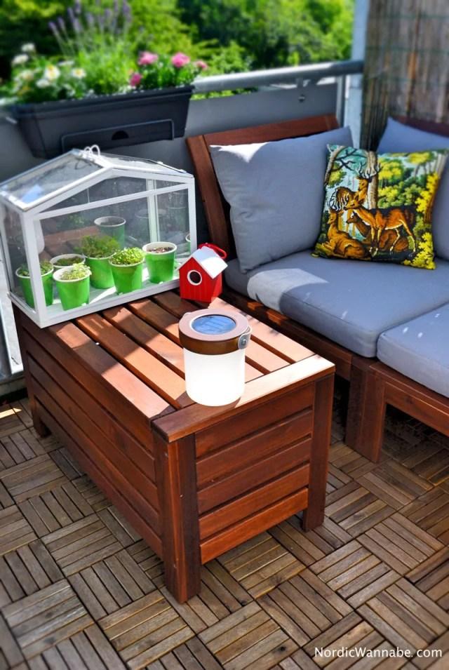 nordicwannabe check skandinavien auf dem balkon. Black Bedroom Furniture Sets. Home Design Ideas