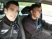 Florian und Jürgen auf dem Weg nach Hannover