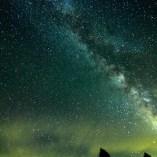 乗鞍高原内から眺める星空