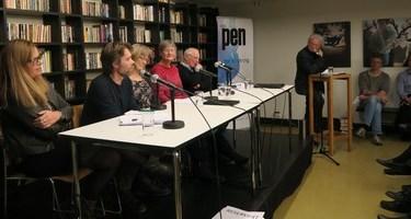 I panelet fra venstre: Anne Kjersti Befring, Christian Grimsgaard, Karin Andersen, Eli Berg, Ola Didrik Saugstad. Programleder Christian Borch