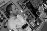 Busy behind the bar at Beluga vodka evening