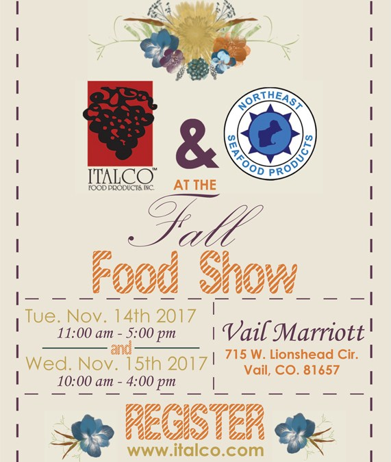 Vail Food Show Tues Nov. 14th & Wed 15th, 2017