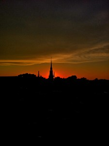 Old North Church Sunset by Jerry Cordasco - Autumn 2011