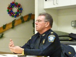 Captain Bernard O&#039;Rourke at a Nazzaro Center Public Safety Meeting