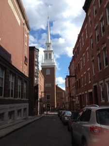 Old North Church from Hull Street - Winter 2011 by Lauren Sandonato