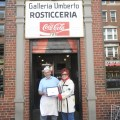 Paul Deuterio of Galleria Umberto Rosticceria with Clean Streets Member, Janet Gilardi (Photo by Phil Orlandella)