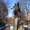 Cyrus E. Dallin&#039;s Paul Revere Statue in the North End&#039;s Prado