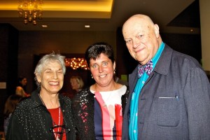 Berta and Al Axelrod with Traci Walker Griffith (center)