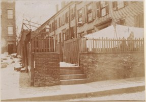 Charter Street, Washburn Place. Backing on Copps Hill burying ground 1893 (Courtesy of Boston Public Library)