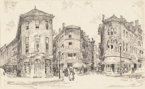 Hanover St Suydam, E. H. (Edward Howard), 1885-1940 (artist) (Courtesy of Boston Public Library)