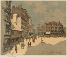 North Square by Francis Getty (Courtesy of Boston Public Library)