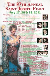 Saint Joseph Feast 2012 Poster