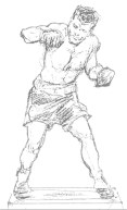 Sketch rendering of Tony DeMarco statue