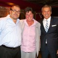 Taste of the North End Co-Chairs, Donato Frattaroli and Jim Luisi with Eliot School Principal Traci Walker Griffith - September 2012 - Photo by Matt Conti