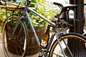 Wine in Bike on Hanover - Photo by Matt Conti