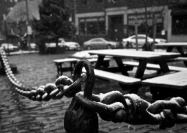 Snow Covered Chains of North Square - December 2012 - Photo by Matt Conti