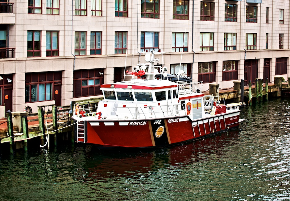 Boston Fire Boat at Burroughs Wharf