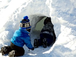Entering the Igloo Fort (Photo by Matt Conti)