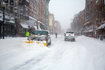 North End Chamber of Commerce Plowing Hanover St. (Photo by Matt Conti)