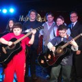 St. John School Fundraiser at the Hard Rock Cafe. Front: Nicholas Seaver (in red), John Paul Giorgio 