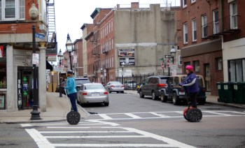 Segways on Hanover Street (NorthEndWaterfront.com photos)