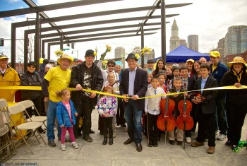 Ribbon Cutting at 1st Annual Daffodil Day on the North End Parks