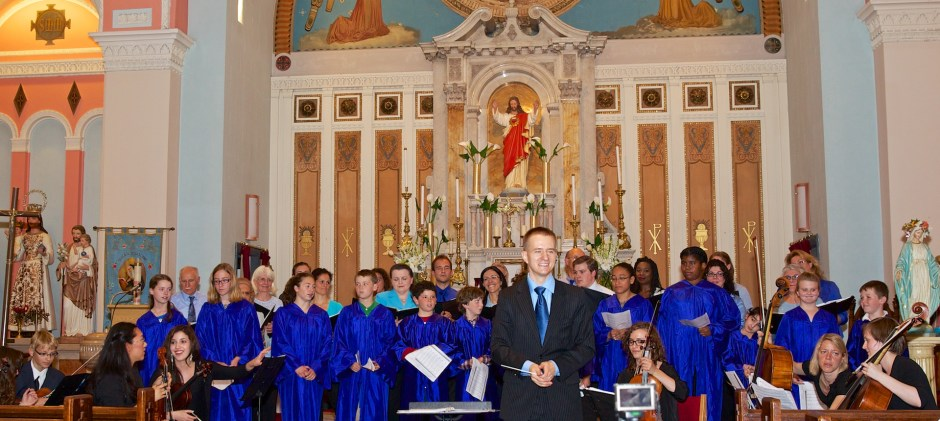 Saint John School Children&#039;s Choir Performs with Dan Drzymalski and St. Leonard Choral Society and North End Chamber Orchestra