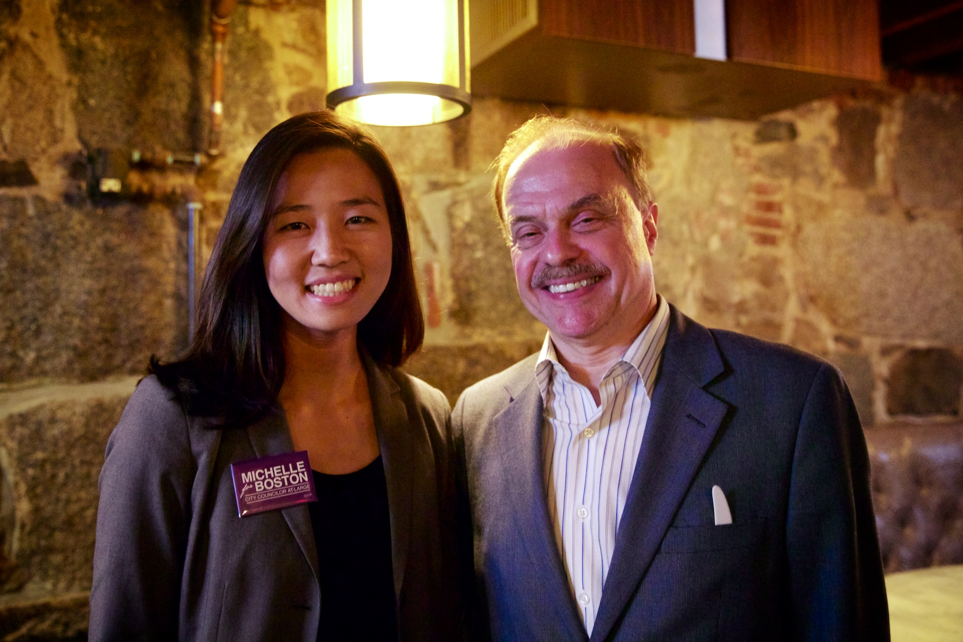 City Councilor At-Large Candidate Michelle Wu with Jim Salini at the ...