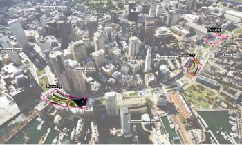 Aerial Highlighting Ramp Parcels on Rose F. Kennedy Greenway (Image: BRA)