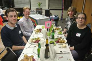 The table of our wonderful Auction volunteers: Leif, Henry, Elsebeth and Kristin